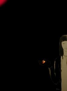 ừ, thì chỉ là một đốm lửa nhỏ nhoi nhưng nó là vì sao trong bóng đêm mù mịt (Đinh Trường Giang)